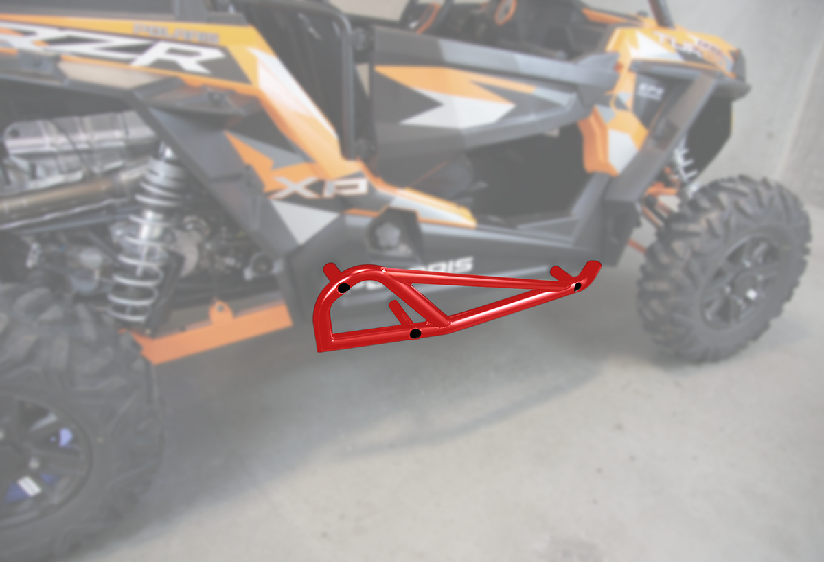 Moose Racing Red UTV Side By Side Nerf Bars for 15-18 Polaris RZR XP 900 1000