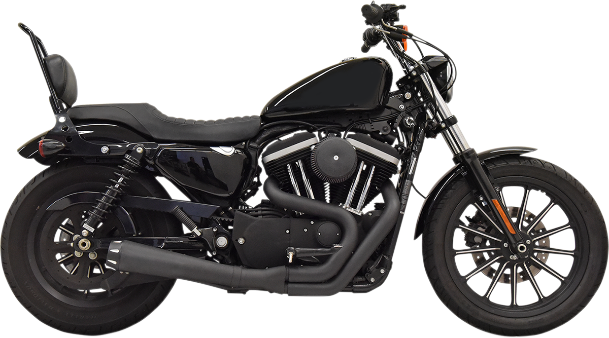 Bassani Black 2-1 Road Rage Megaphone Exhaust for 04-19 Harley Sportster XLN