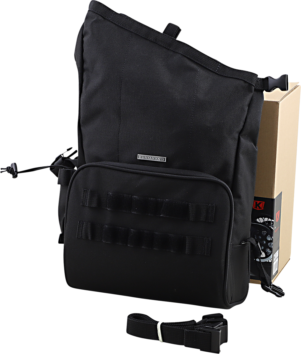 Kuryakyn 5170 Hoodrat Universal Textile Slant Motorcycle Black Swing Arm Bag