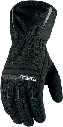Icon PDX Black Medium Long Cuff Motorcycle Riding Street Road Racing Gloves