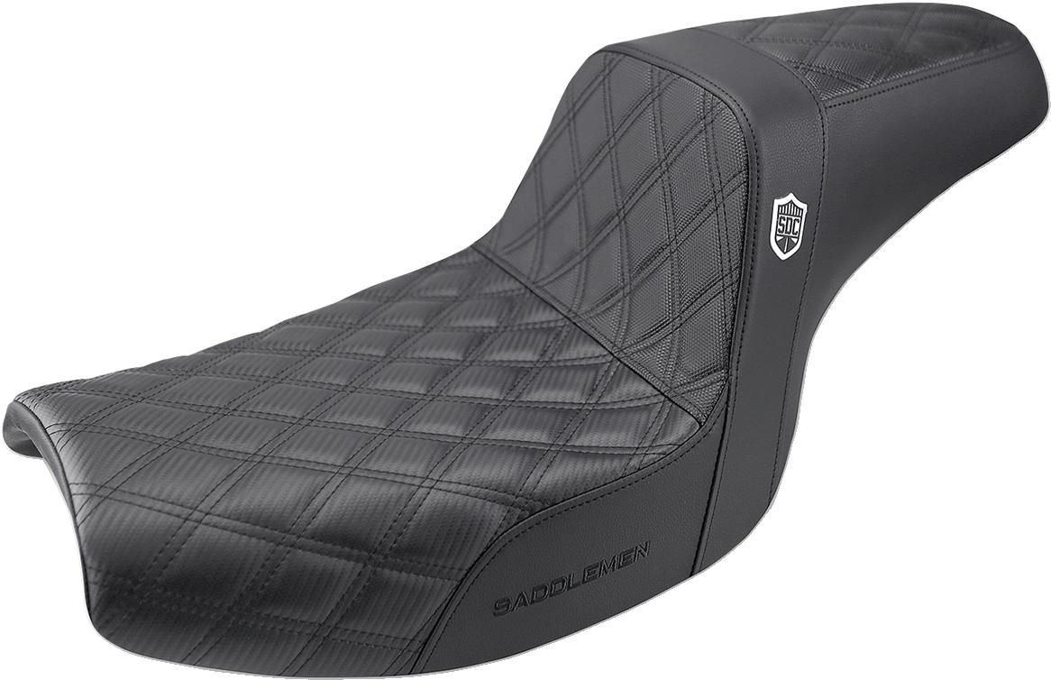 Saddlemen Black Gel SDC Performance Gripper Seat for 82-00 Harley FXR FXRT FXRS