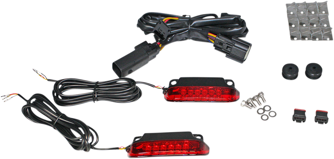 Custom Dynamics LED Red Luggage Rack Taillight Kit for 14-19 Harley Touring
