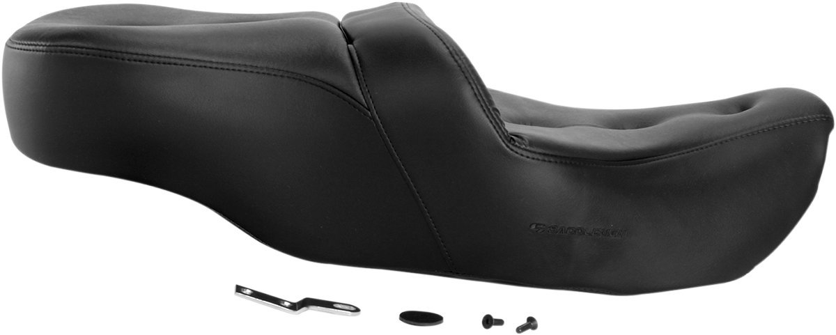 Saddlemen Black Vinyl Pillow Top Road Sofa Seat for 97-06 Harley Touring FLHX