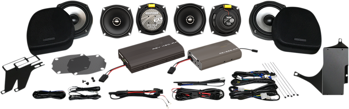 Hogtunes Ultra 6 Pack XL Motorcycle Speaker & Amp Kit 05-13 Harley Touring
