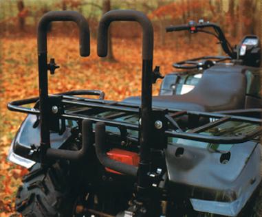 Moose Utility Gloss Black Universal Rear ATV Totem Hunting Carrier System