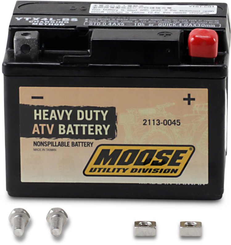 Moose Heavy Duty YTX4L ATV Battery 86-14 Arctic Cat Honda Polaris Yamaha KTM