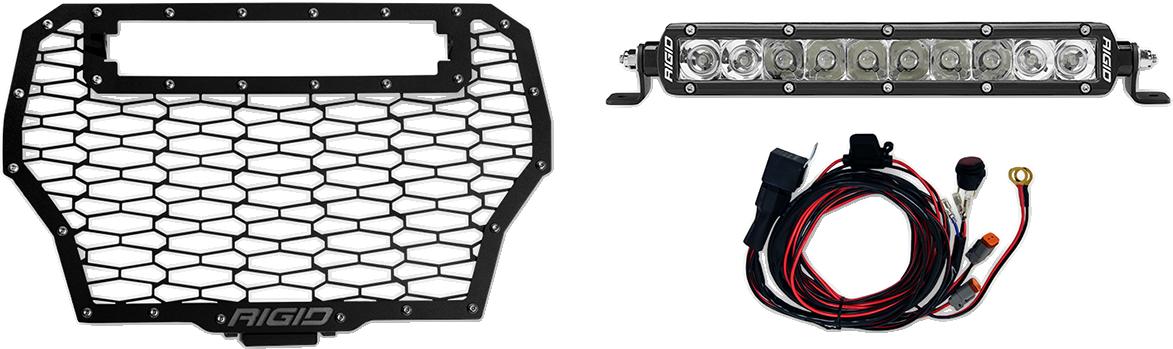Rigid Industries UTV Side by Side LED Light & Grill Cover Kit 17-18 Polaris RZR
