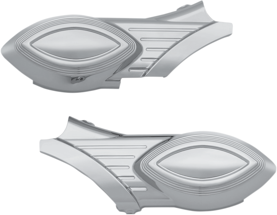 Kuryakyn 8846 Chrome Rear Swingarm Covers for 15-16 Indian Scout Sixty Bobber