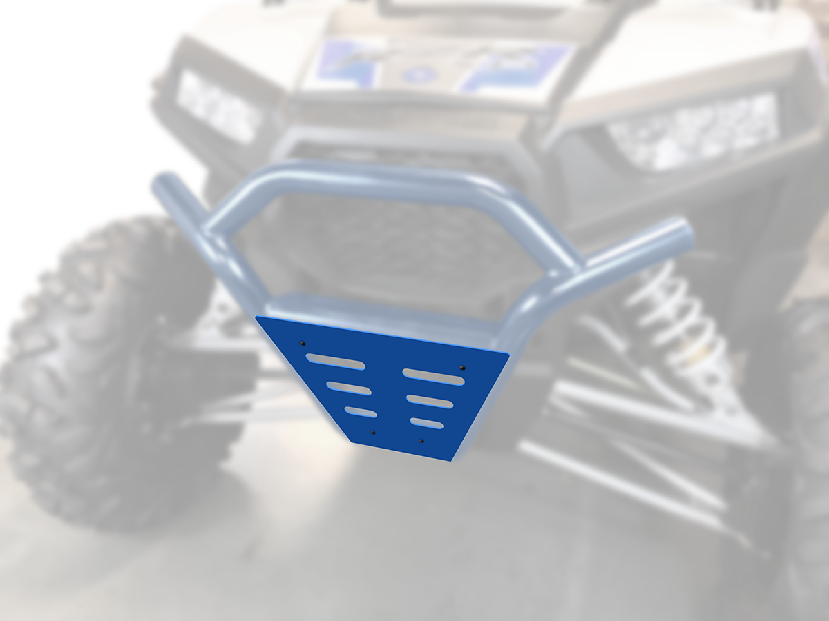 Moose Racing Side by Side Blue Steel Front Bumper Guard for 15-18 Polaris RZR