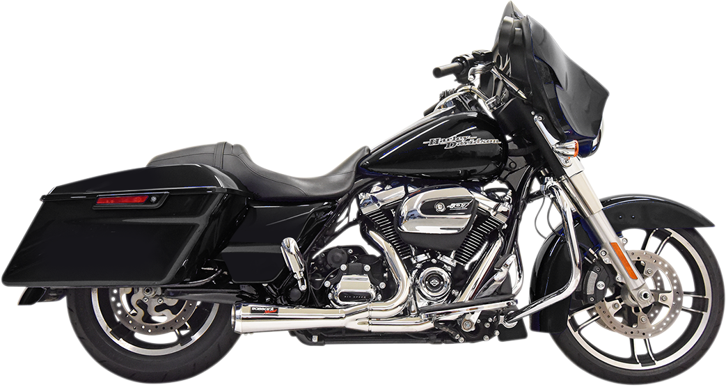 Bassani Road Rage 2-1 Short Chrome Exhaust System 17-20 Harley Davidson Touring