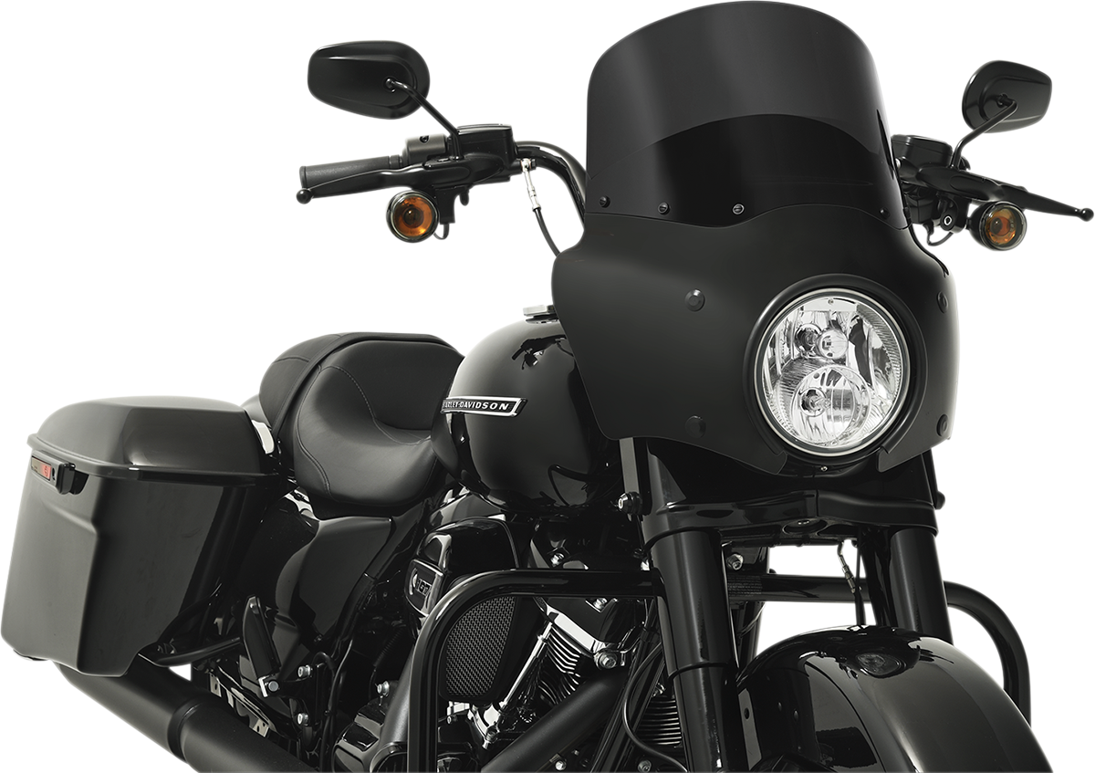 Memphis Shades Black Road Warrior Fairing for 95-19 Harley Touring Road King