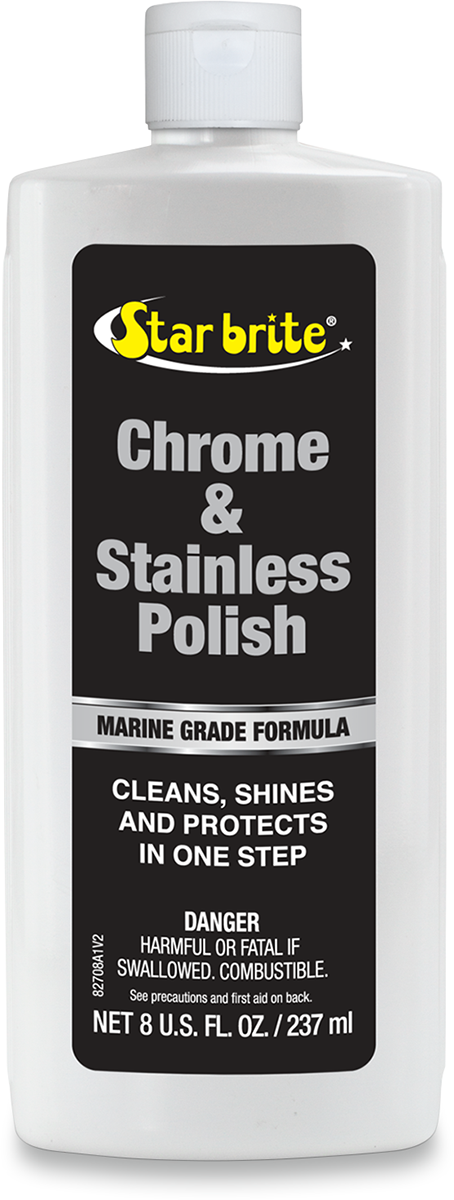 Star Tron 8oz Universal Chrome Stainless Motorcycle Polish Harley Davidson