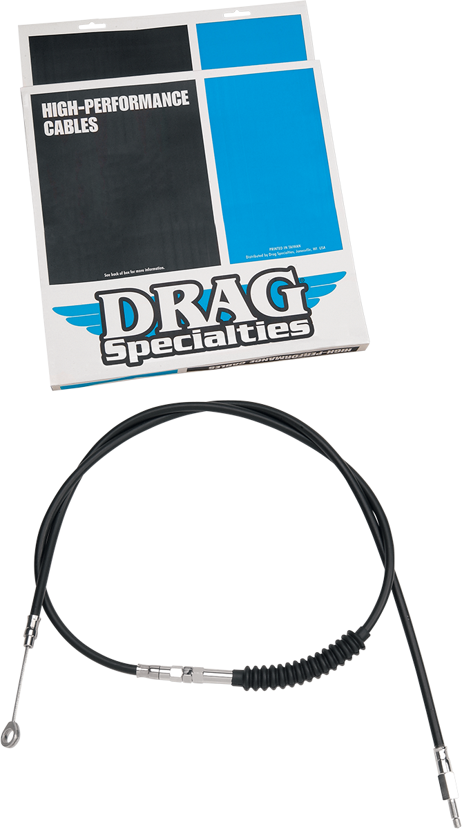 """Drag Specialties Black 55-1/16"""" Vinyl Clutch Cable for 80-82 Harley Tour Glide"""