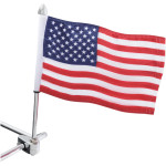 "12"" FLAG POLES WITH FLAG AND FINIAL"