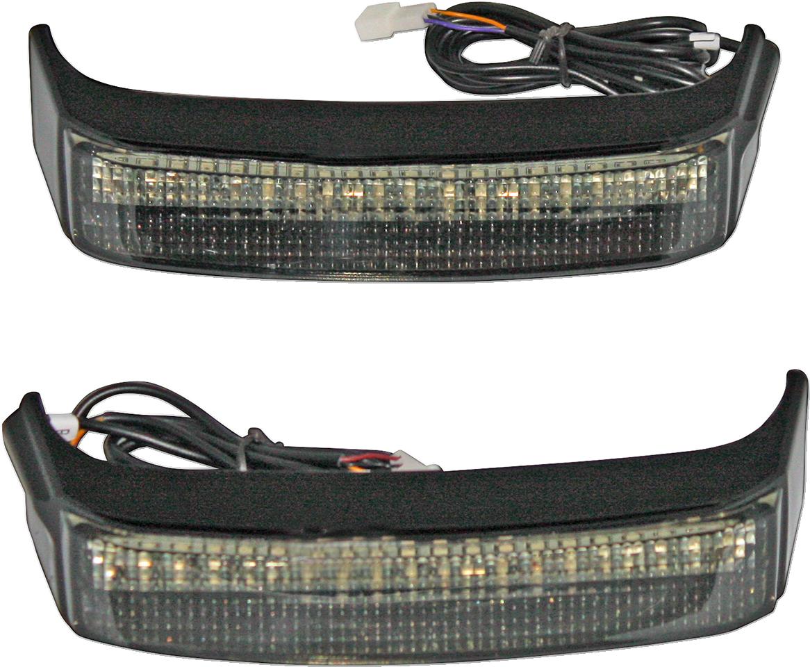 Custom Dynamics LED Black Smoke Lens Saddlebag Lights for 14-18 Harley Touring