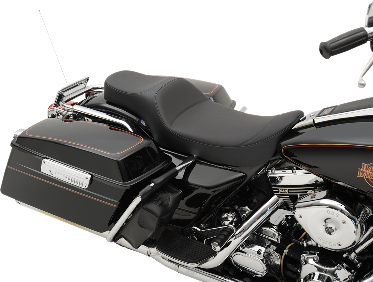 Drag Specialties Black Predator Extended Reach Seat for 97-07 Harley Touring