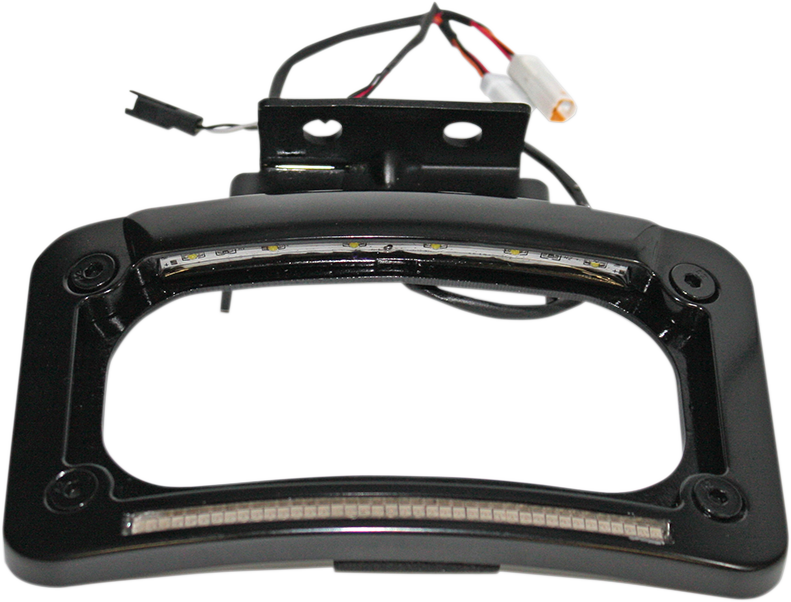 Custom Dynamics Black Dual LED Rear License Plate Frame 14-20 Indian Chief