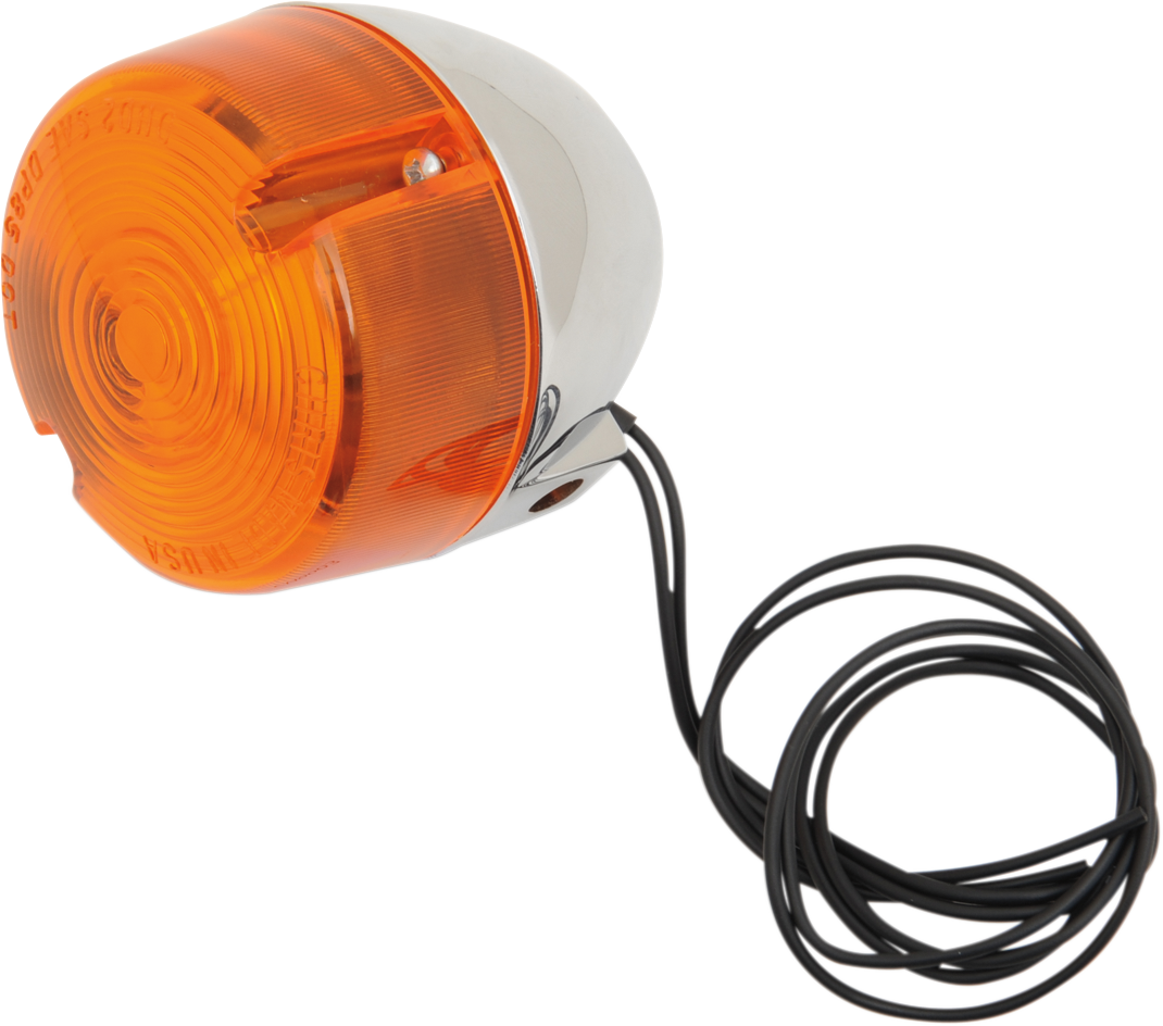 Chris Products Single Chrome Amber lens Turn Signal 86-87 Harley Sportster XLH