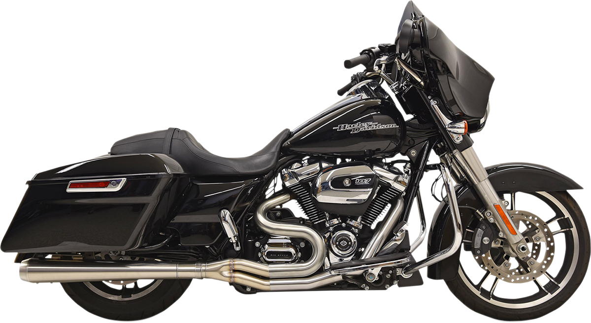 Bassani 2-1 Road Rage 3 Megaphone Exhaust for 17-18 Harley Touring FLHR FLHX