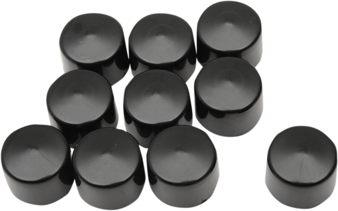 "Drag Specialties Black 10 Pack 3/8"" Motorcycle Bolt Cover Kit Harley Davidson"