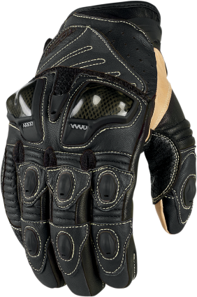 Icon Overlord Mens Black 4xl Short  Motorcycle Riding Street Racing Gloves