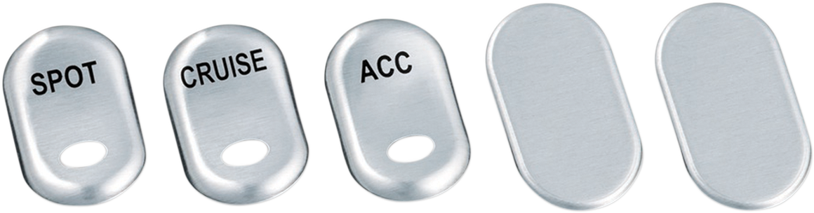 Kuryakyn 7234 Rocker Switch Cover 5 Pack for 96-13 Harley Touring FLHT FLHTC
