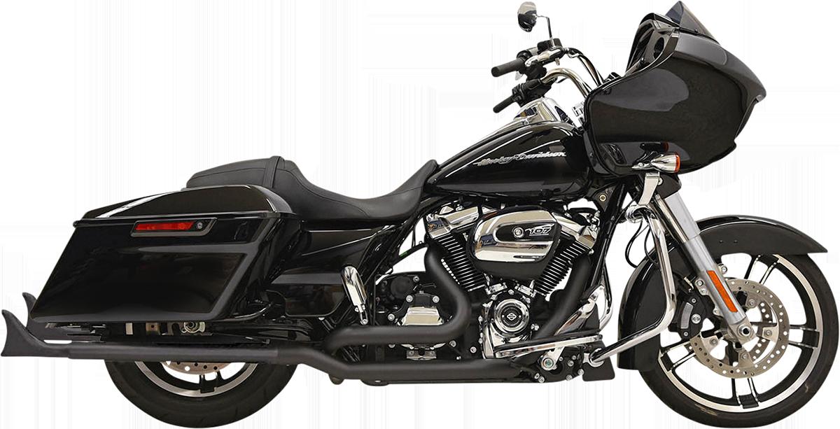 """Bassani Black 33"""" Black Fishtail Slip on Mufflers 95-16 Harley Touring FLHX FLHR"""