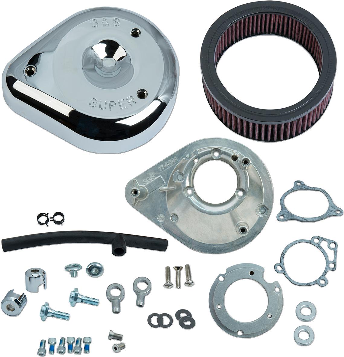 S&S Chrome Teardrop Air Cleaner Filter Kit 08-17 Harley Touring Softail FXSB FLS