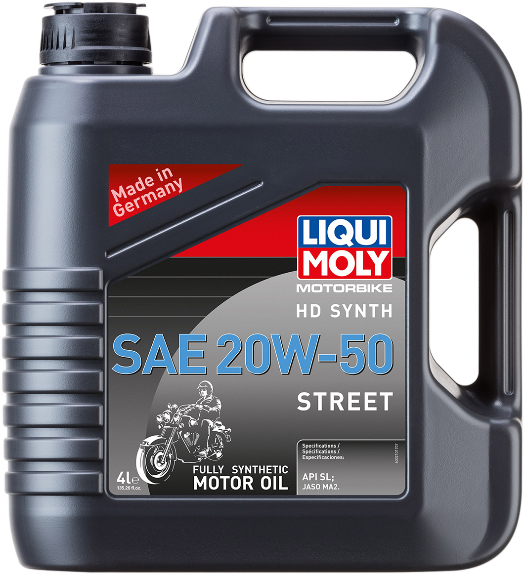 Liqui Moly 4 Liter 20W-50 Fully Synthetic Motorcycle Engine Oil for Harley HD