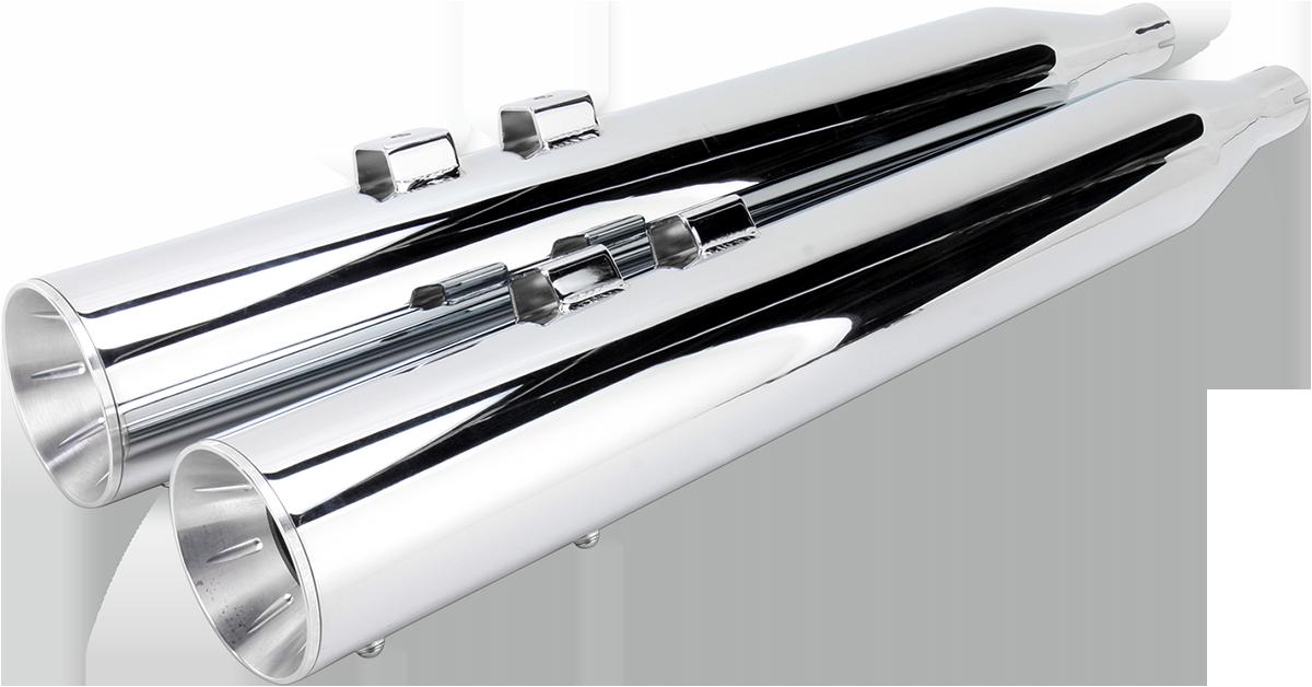 Bassani Chrome Inverted Exhaust Mufflers for 95-16 Harley Touring FLHX FLHR FLTR