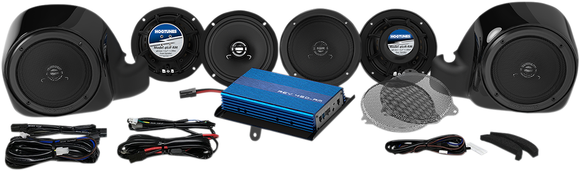 Hogtunes 4 Channel 200w Amp 6 Speaker Kit 14-20 Harley Touring FLHTCU FLHTCUTG