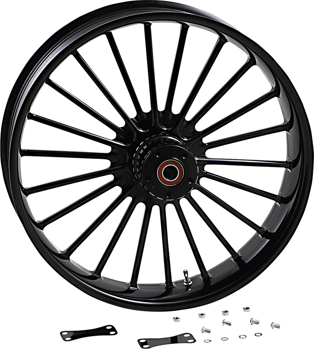"""RC Components Illusion 21"""" x 3.5"""" Forged ABS Front Wheel 08-20 Harley Touring"""