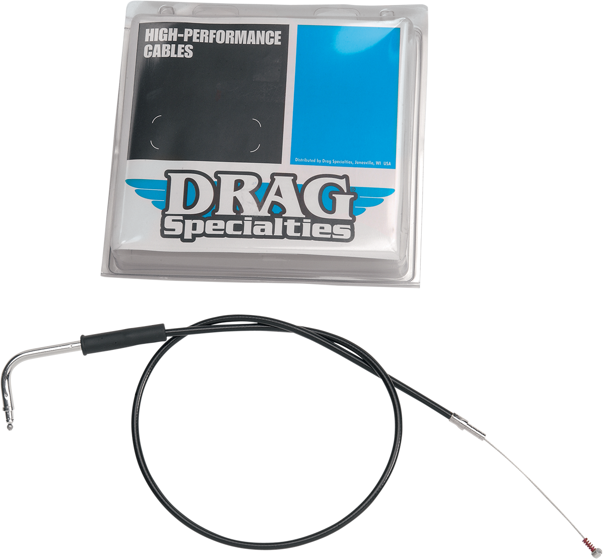 "Drag Specialties Black Vinyl Throttle Cable 42.5"" for 81-89 Harley Touring FLHT"