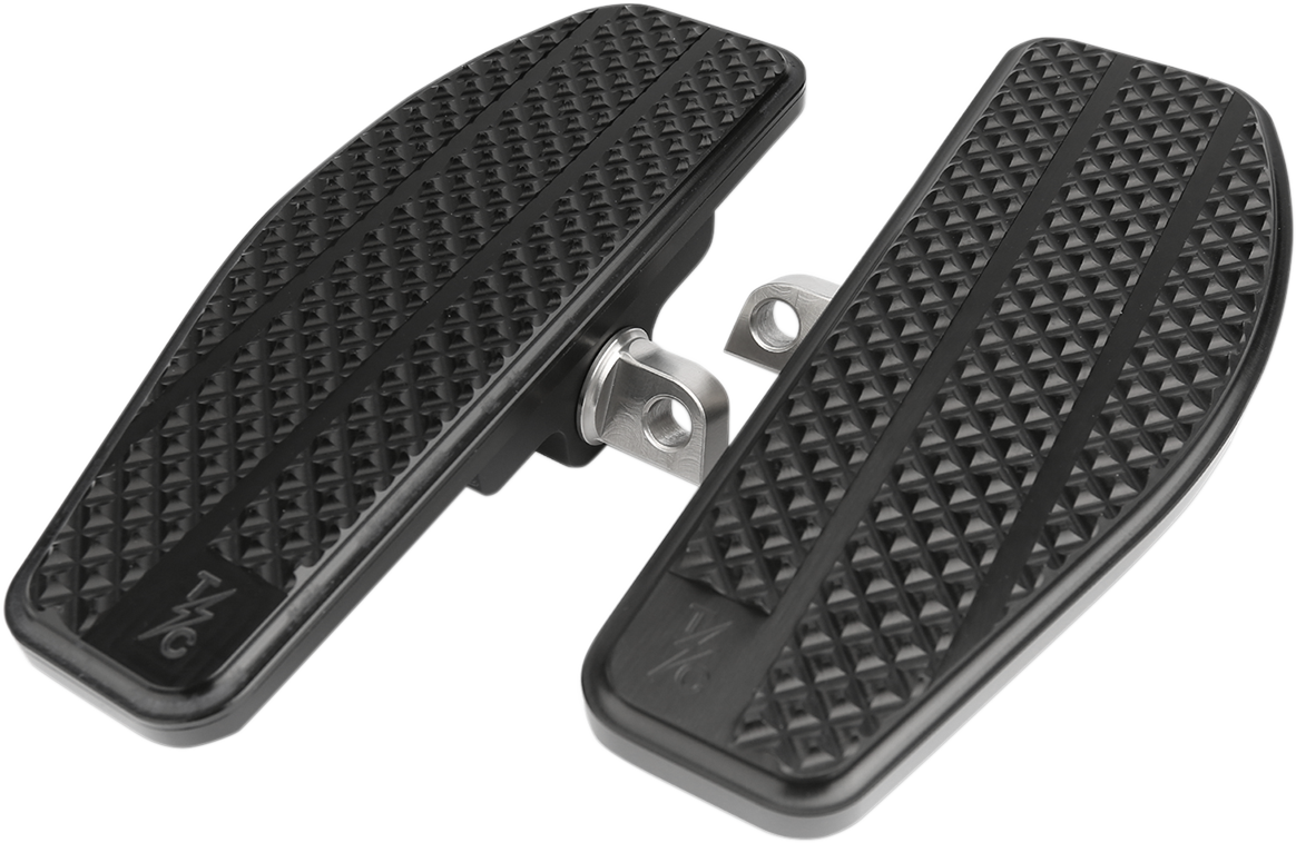 Thrashin Black Aluminum Mini Driver Floorboards for 18-19 Harley Softail FXFB
