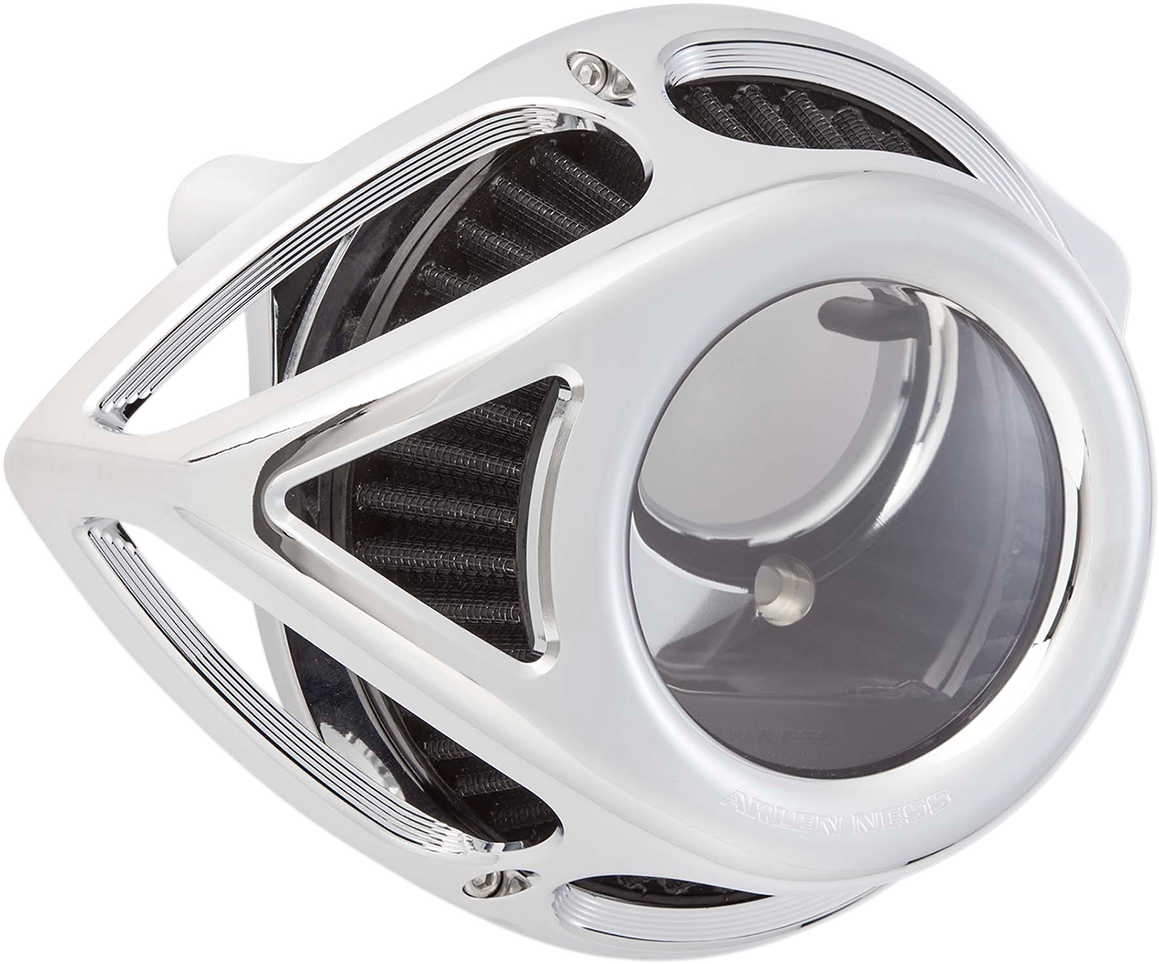 Arlen Ness Chrome Clear Tear Air Filter Cleaner Kit 17-19 Harley Touring Softail
