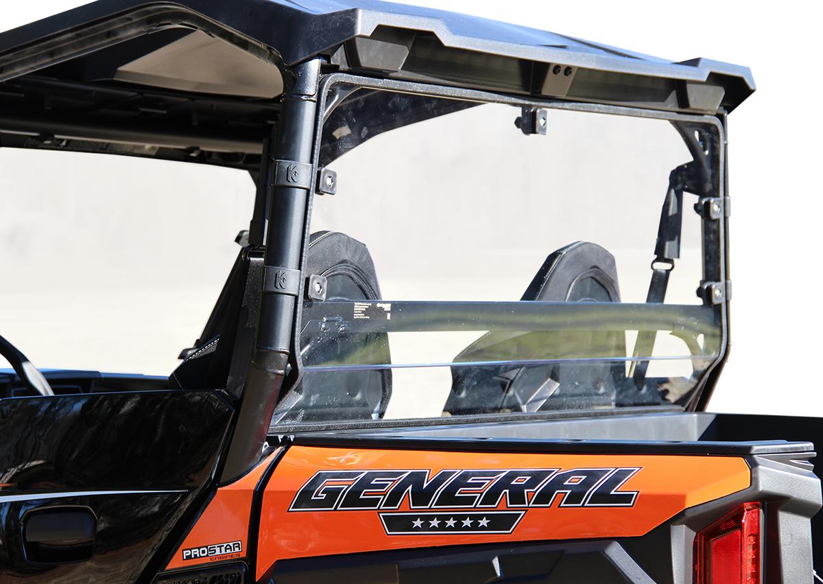 Seizmik Clear Rear Polycarbonate Dust Panel for 2016 Polaris General 1000 ESP