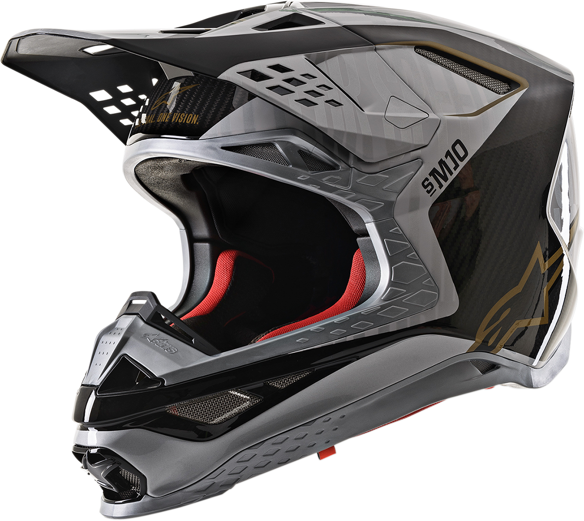 Alpinestars Unisex Supertech M10 Offroad Riding Dirt Bike Racing Fullface Helmet