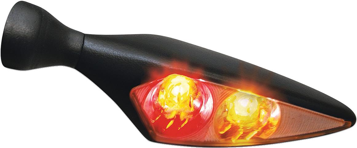 Kuryakyn 2544 Black Amber Red LED Smoke Lens Right Rear Turn Signal for Harley