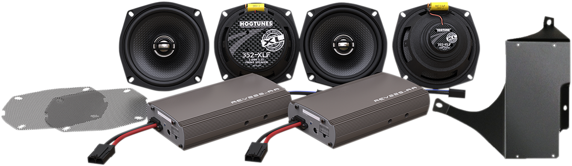 Hogtunes XL 4 Speaker & Amplifier Kit  98-13 Harley Touring FLHTCU FLHTK CVO