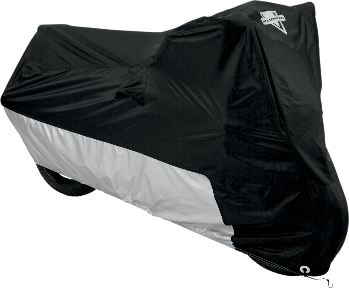 Nelson Rigg Polyester Black Silver Large Motorcycle Cover for Harley Davidson