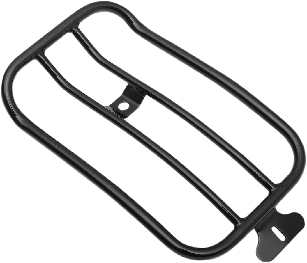 "Motherwell 7"" Black Solo Luggage Rack for 07-17 Harley Softail FLSTSB FLSTF"