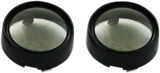 Custom Dynamics Black Smoke Lens Probeam Bullet Turn Signal Bezels for Harley