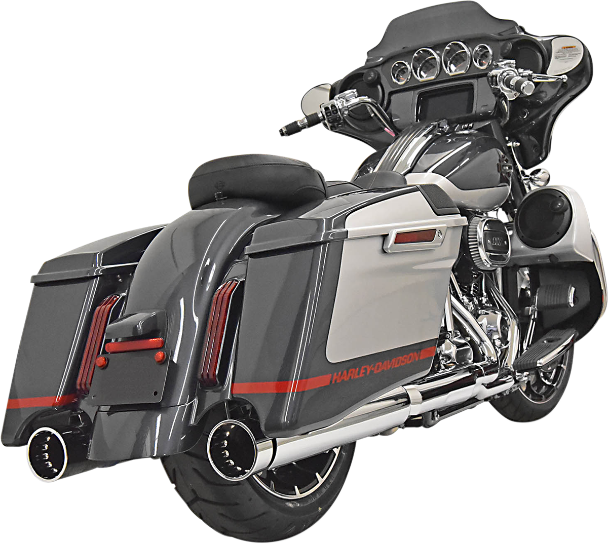 "Bassani Chrome 4"" DNT Slip on Mufflers for 17-19 Harley M8 CVO Touring FLHXSE"
