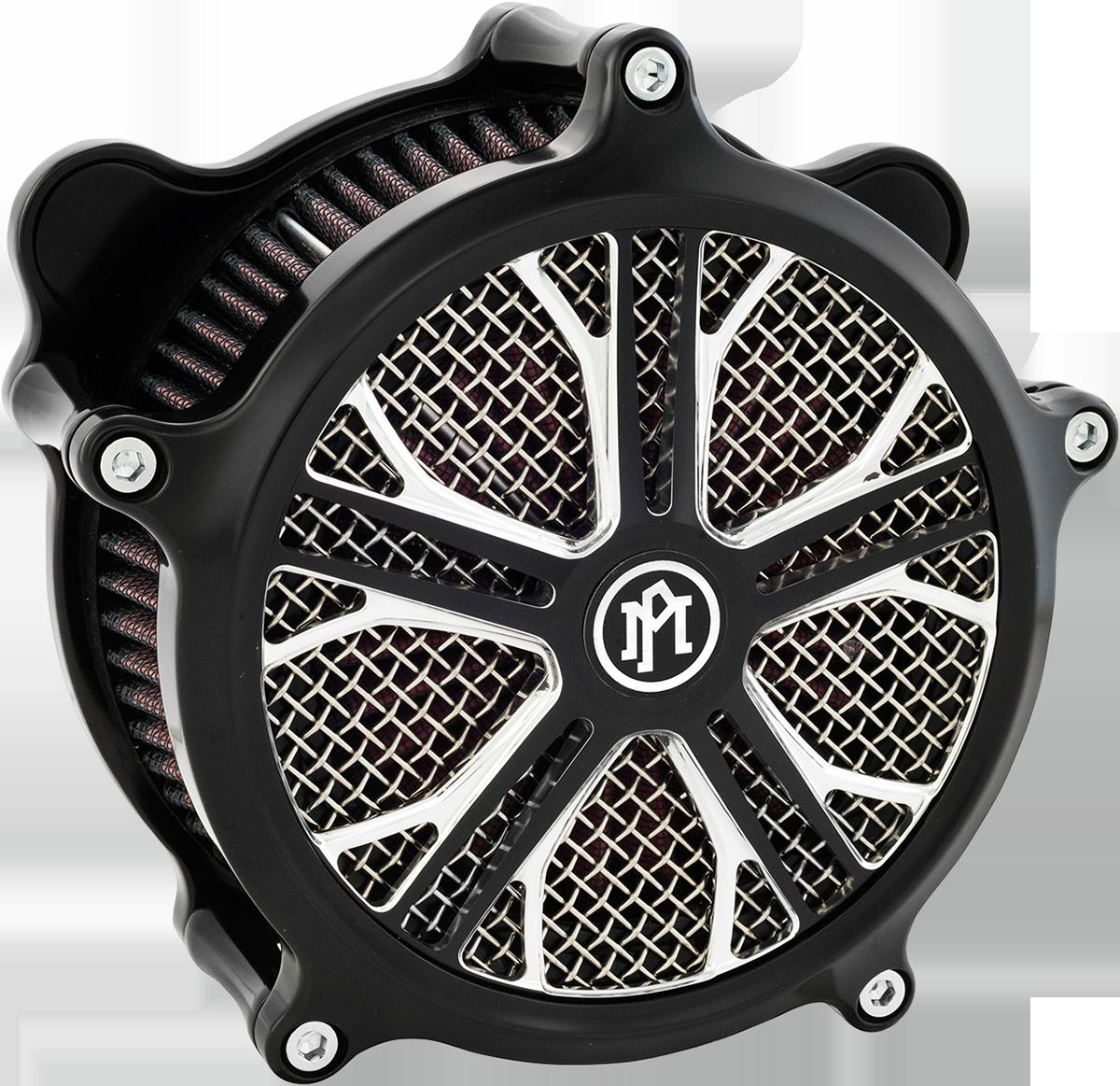 Performance Machine Dixon Matte Platinum Cut Air Cleaner Filter Cover Insert