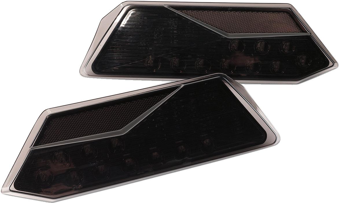 Moose Utility Black UTV Side by Side Taillights 14-20 Polaris RZR XP Turbo RS1