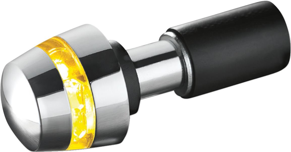 Kuryakyn 2558 BL 2000 Single Chrome Handlebar End Amber LED Turn Signal
