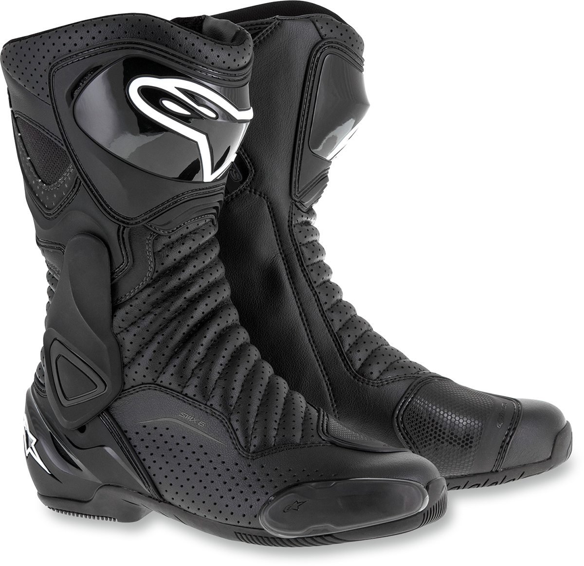 Mens Alpinestars Black SMX-6V2 Textile Motorcycle Riding Street Racing Boots