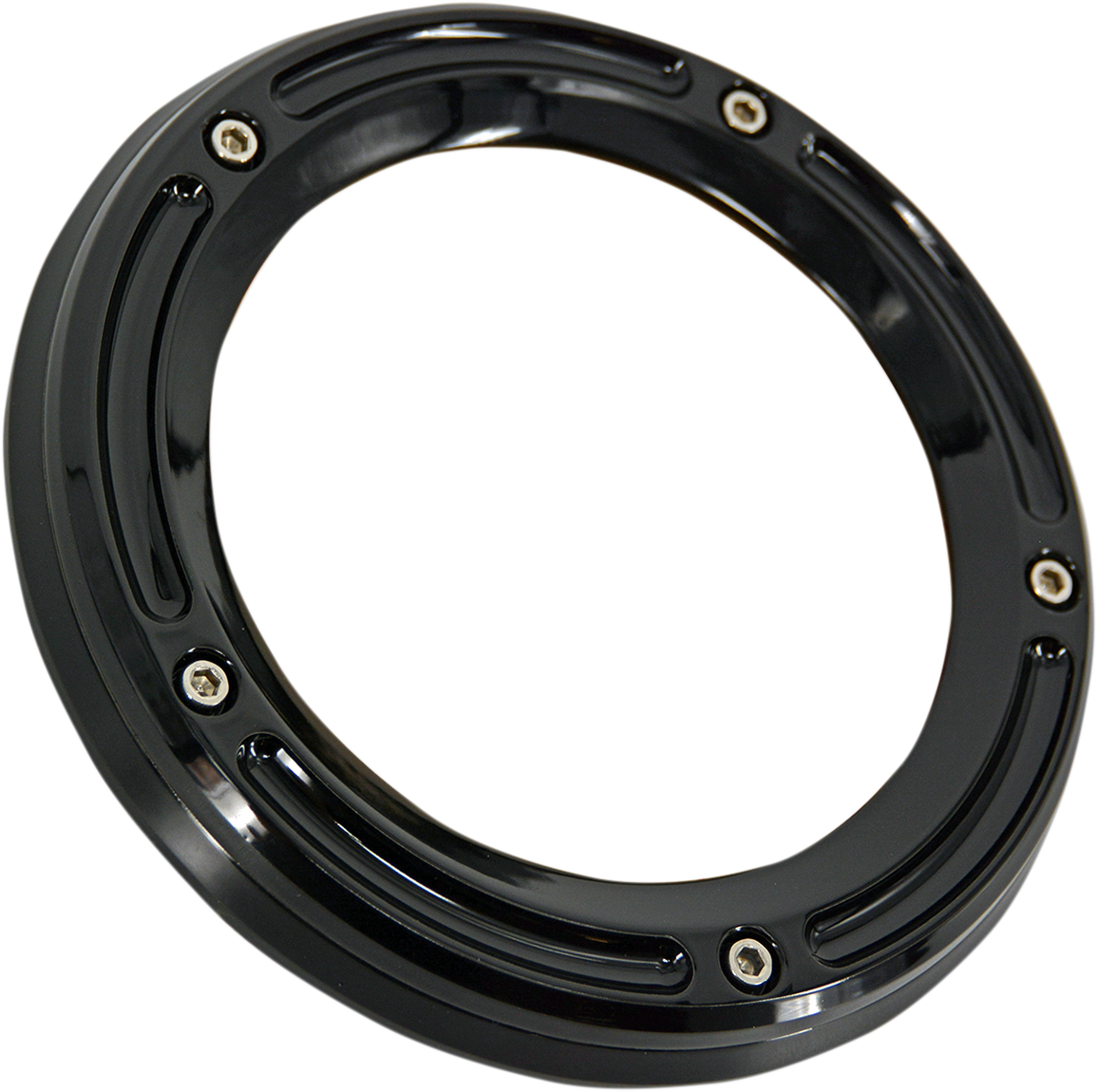 Trask Black Assault See Through 5 Hole Derby Cover 16-20 Harley Touring FLHX FLHR