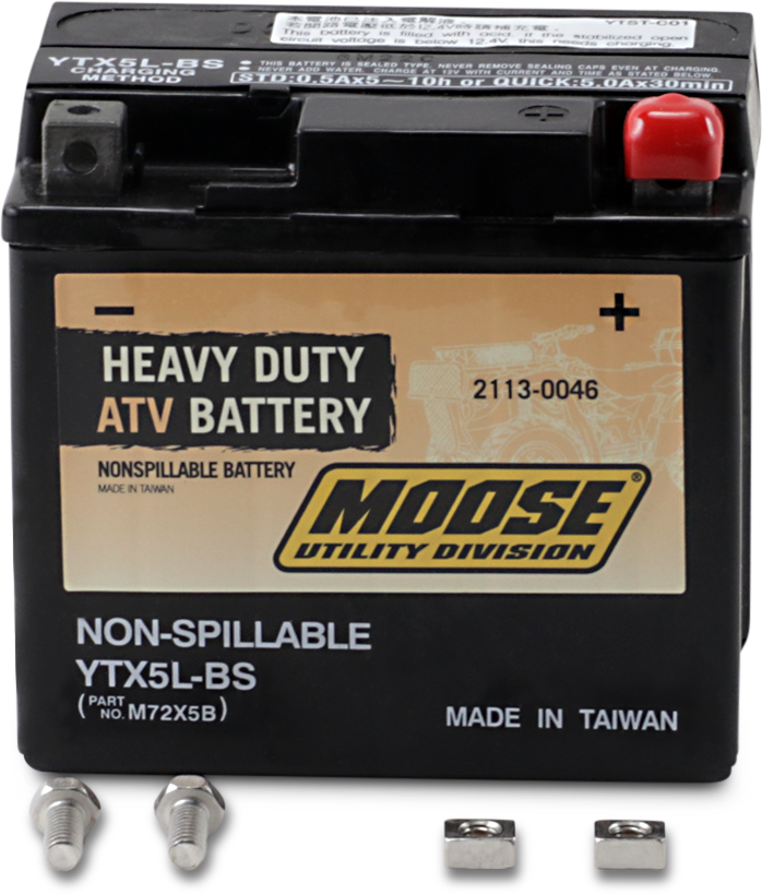Moose Heavy Duty YTX5L Maintenance Free Battery for 87-17 Arctic Cat Polaris KTM