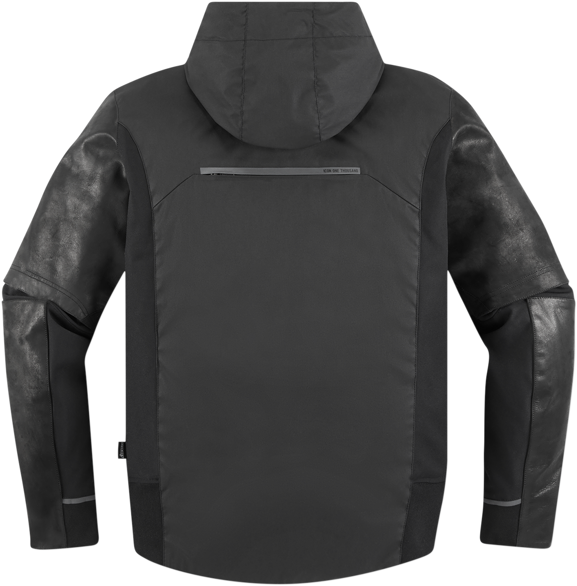 Icon 1000 Mens Black Leather Varial Motorcycle Riding Street Road Racing Jacket